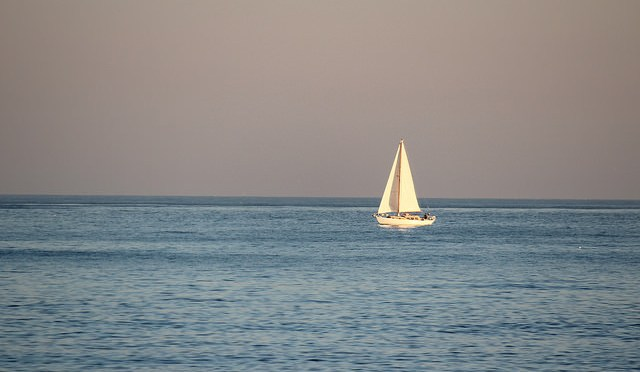 Sailing Boat alone, by Flickr user Joan Campderrós-i-Canas