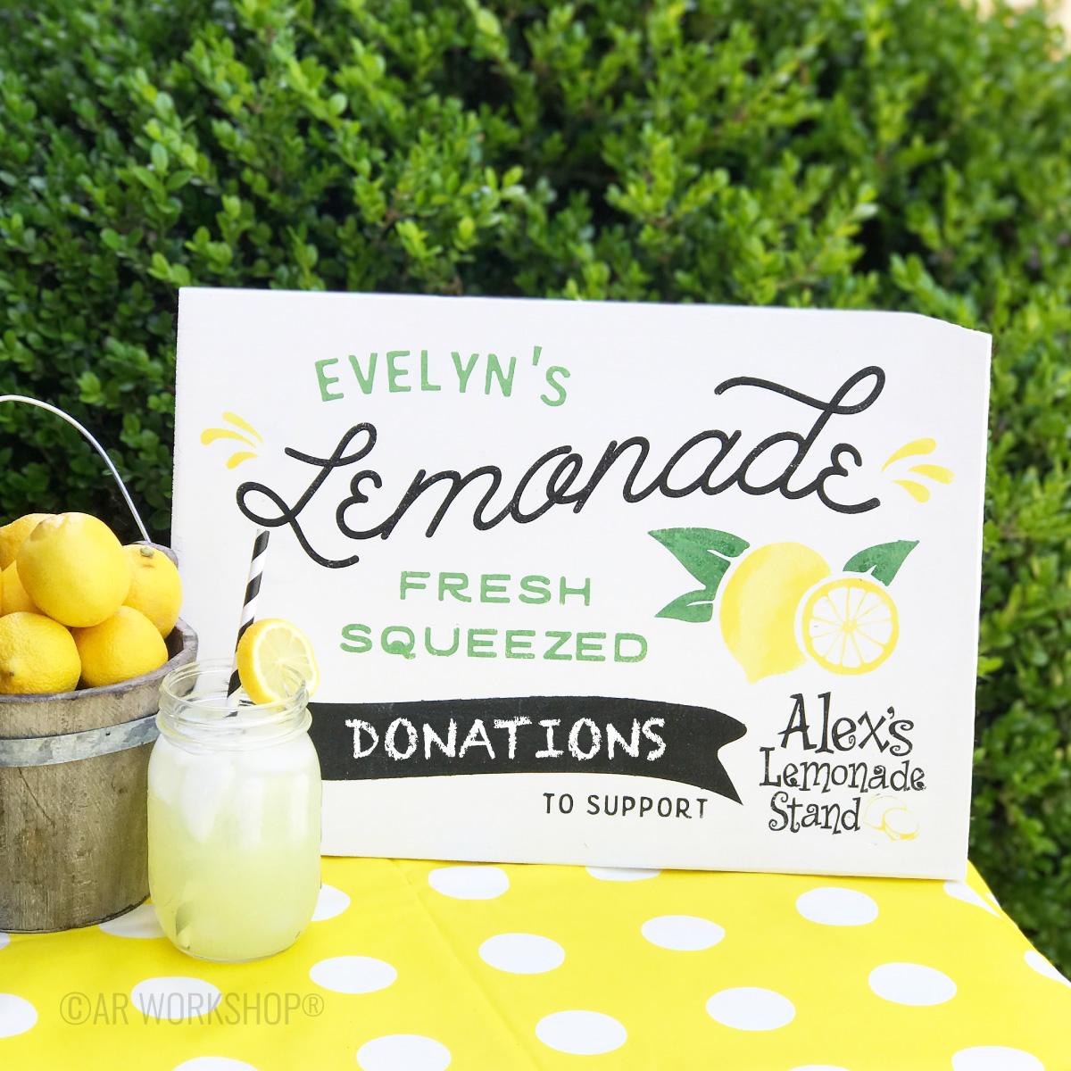 Diy Lemonade Stand Money Box