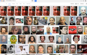 """Google search for """"forehead tattoos in the USA"""""""