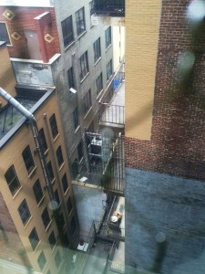 View from the big studio at TCAT-NYC...