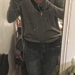 Low light selfie with sacroiliac belt...