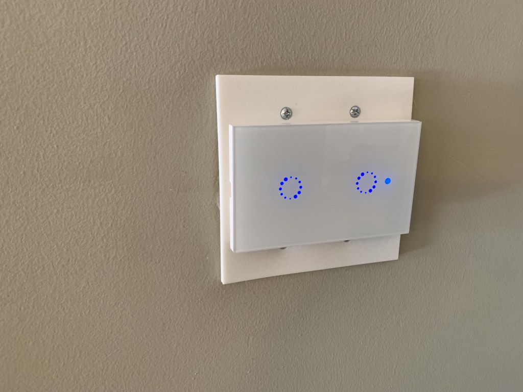 picture of installed faceplate