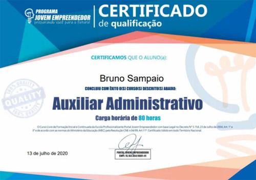 Certificado de Conclusão - Curso Online