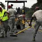 Men constructing road