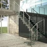 scale in ferro  e vetro moden glass alfascale