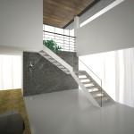 glass stairs-elite line wood-alfascale