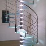 Scala a Chiocciola Reflex Glass Led- Scala terminata