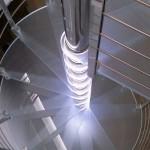 Scala a Chiocciola Reflex Glass Led- effetto led