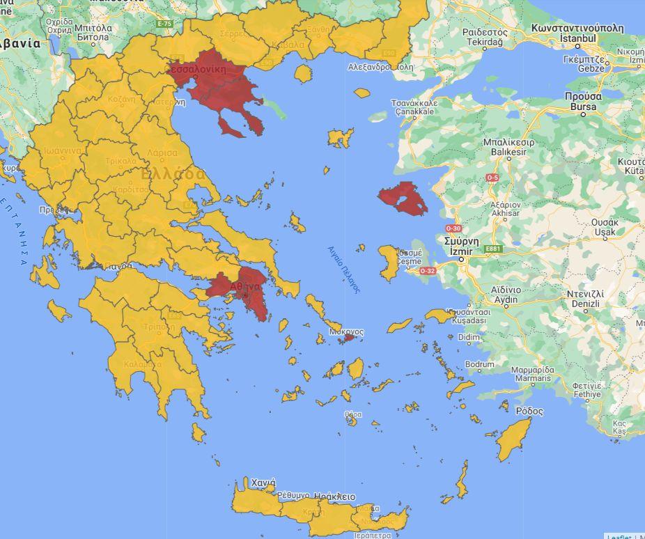 Χάρτης Covid map
