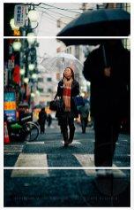Hoping the rain'll stop soon; Otsuka