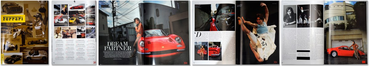 The Official Ferrari Magazine: feature shoot with Tetsuya Kumakawa and his Ferrari Dino.