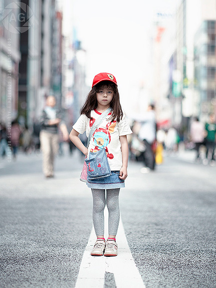 Stylish street portrait, Ginza