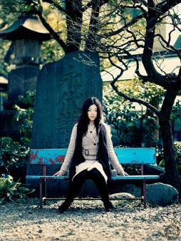 Natsuko at the shrine