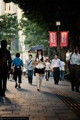 Summer parasol style in Omotesando