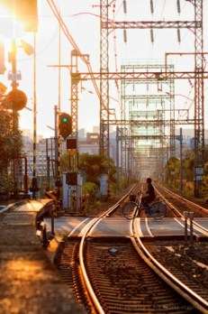 Sunset over the Keikyu Daishi Line, Kawsaki