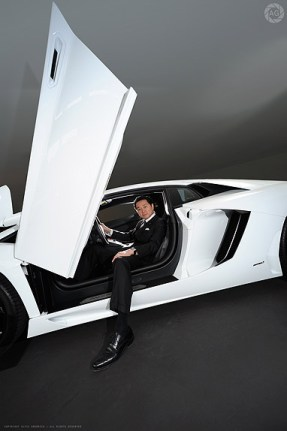The boss of Lamborghini [Japan] for Eurobiz magazine