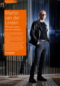 Architect Martin Van Der Linden for Eurobiz magazine