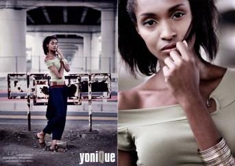 Yonique magazine layout