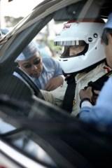 Tetsu Ikuzawa gets strapped in