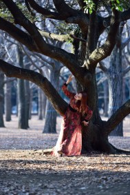 Fashion shoot in Yoyogi Park