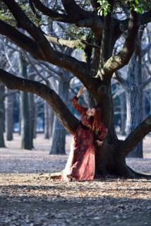 Fashion shoot in Yoyogi Park