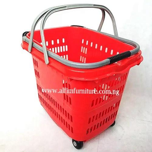 Alfim furniture Executive basket trolley -2 handles_wm