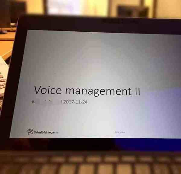 Utbildning i Voice management