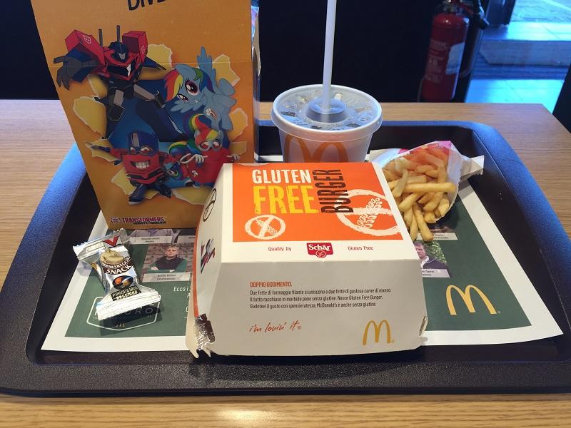 panino McDonald's senza glutine glutenfree