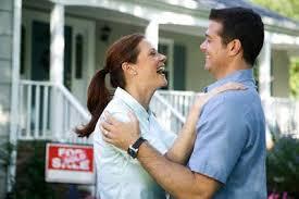 Happy Couple buying house