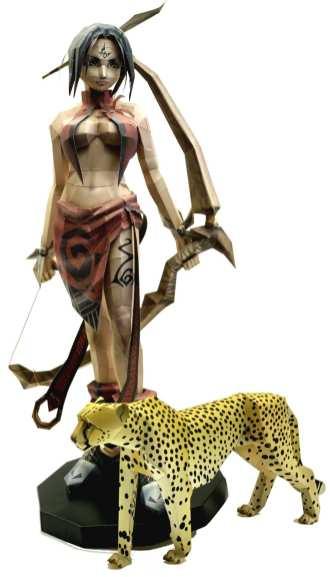 Amazzone con giaguaro