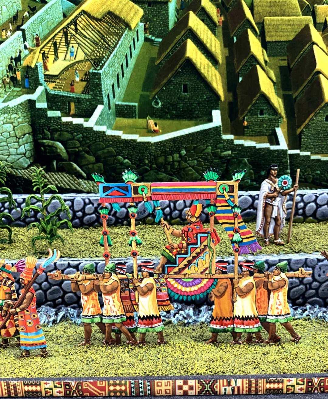 Zinnfiguren diorama – Machu Picchu