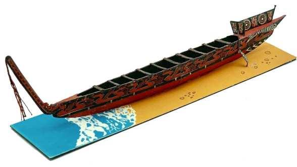 Maori War Canoe.