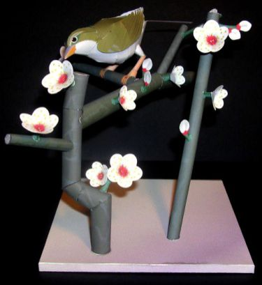 Plum blossom & bush warbler