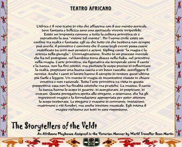 Teatri scenografici - Teatro africano