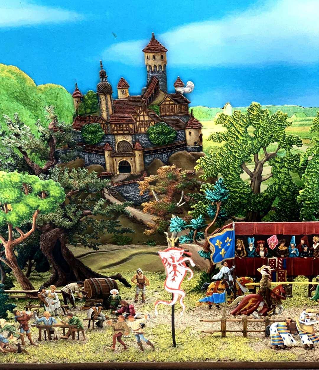 Zinnfiguren diorama – Torneo medievale