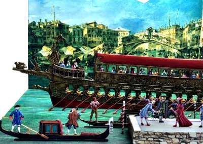 Zinnfiguren diorama – Il Bucintoro e lo Sposalizio del Mare