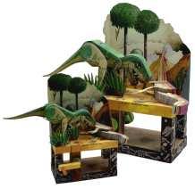 Keith Newstead - Dinosaurs - confronto modello dimensione originale con modello ridotto