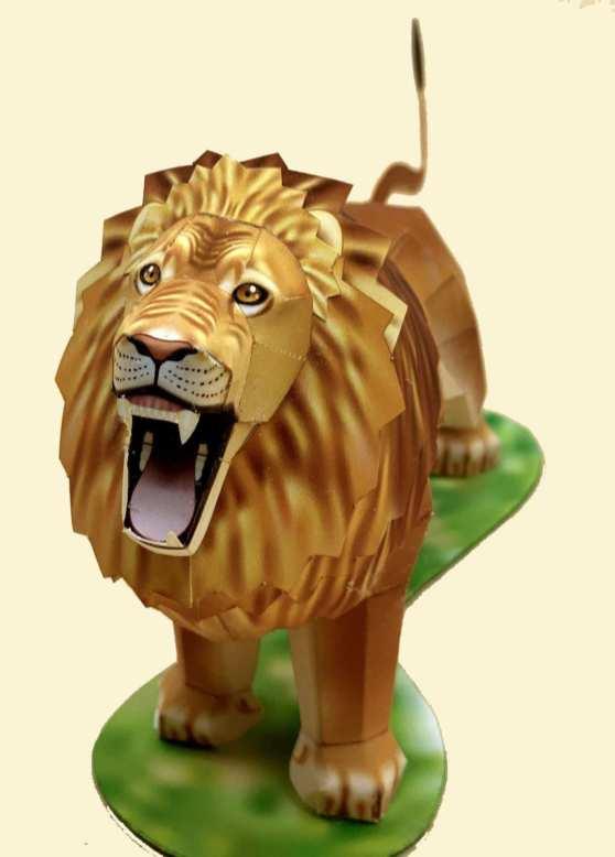 Leone che ruggisce - Africa