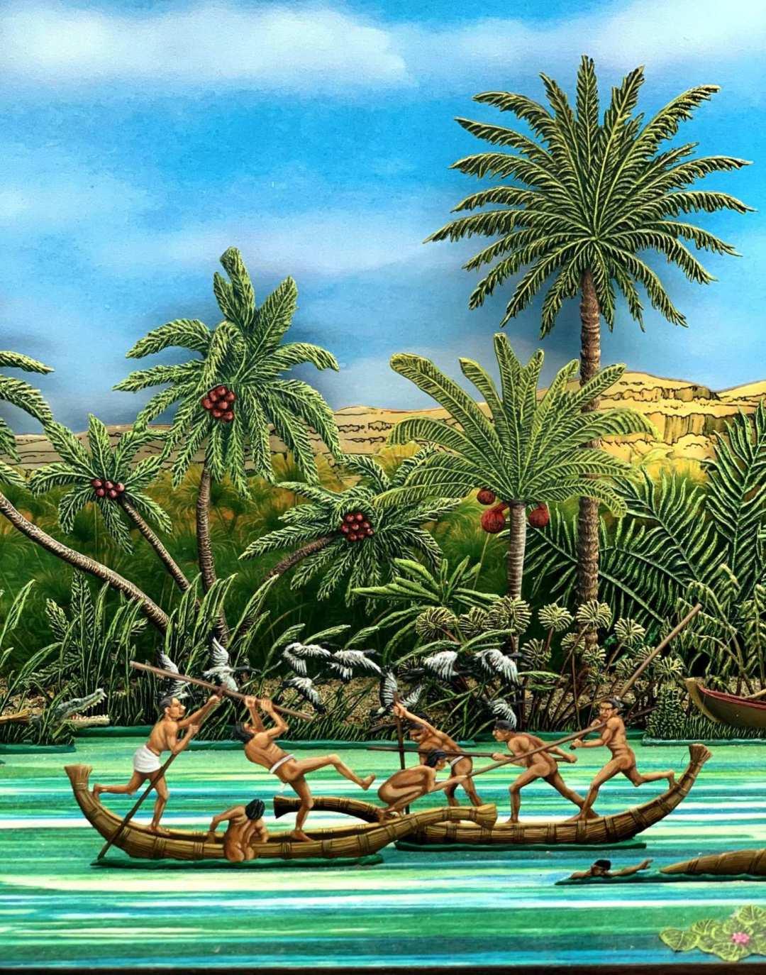 Zinnfiguren diorama – Sul Nilo