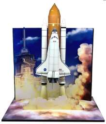 Diorama lancio dello Space Shuttle