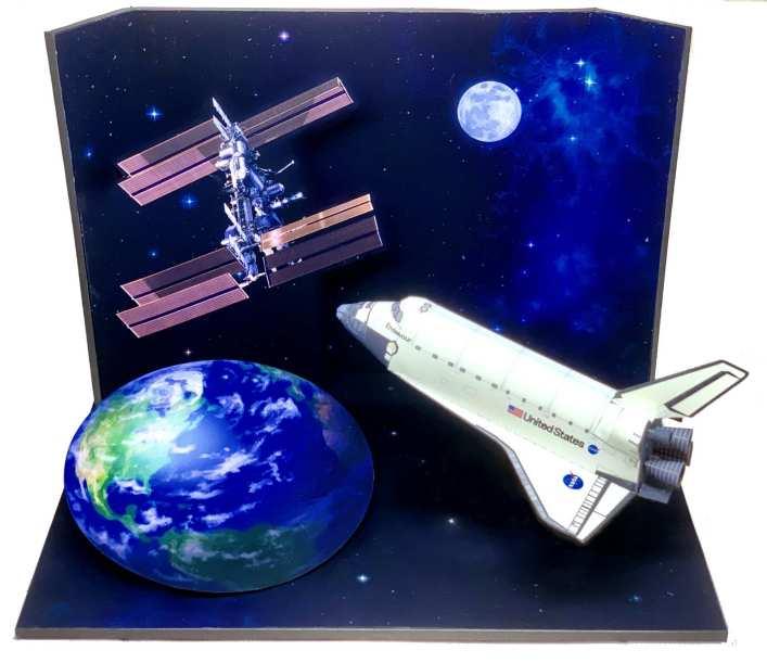 Diorama base orbitante