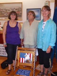 Contest judges Lucille Hussey of Alfred, Linda Migneault of Alfred, and Sandy Howe of Cornish