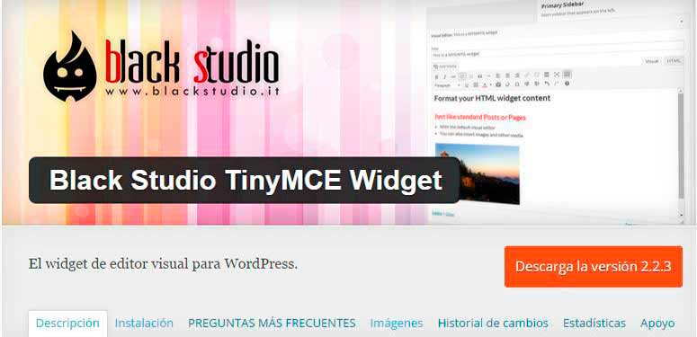 PLUGIN BLACK STUDIO TINYMCE