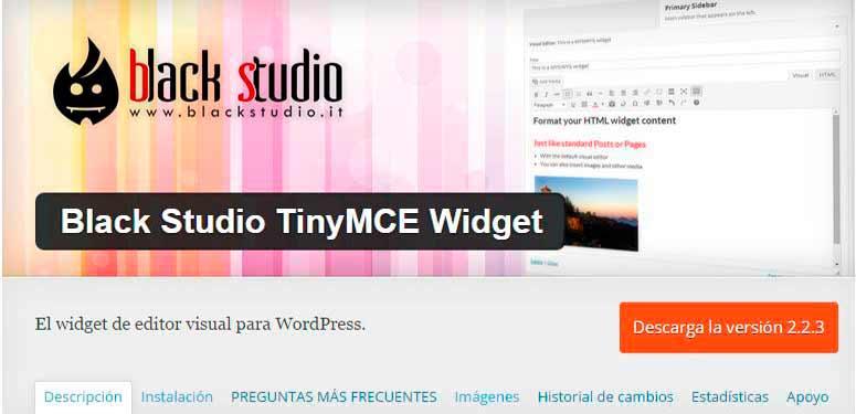 PLUGIN BLACK STUDIO TINYMCE