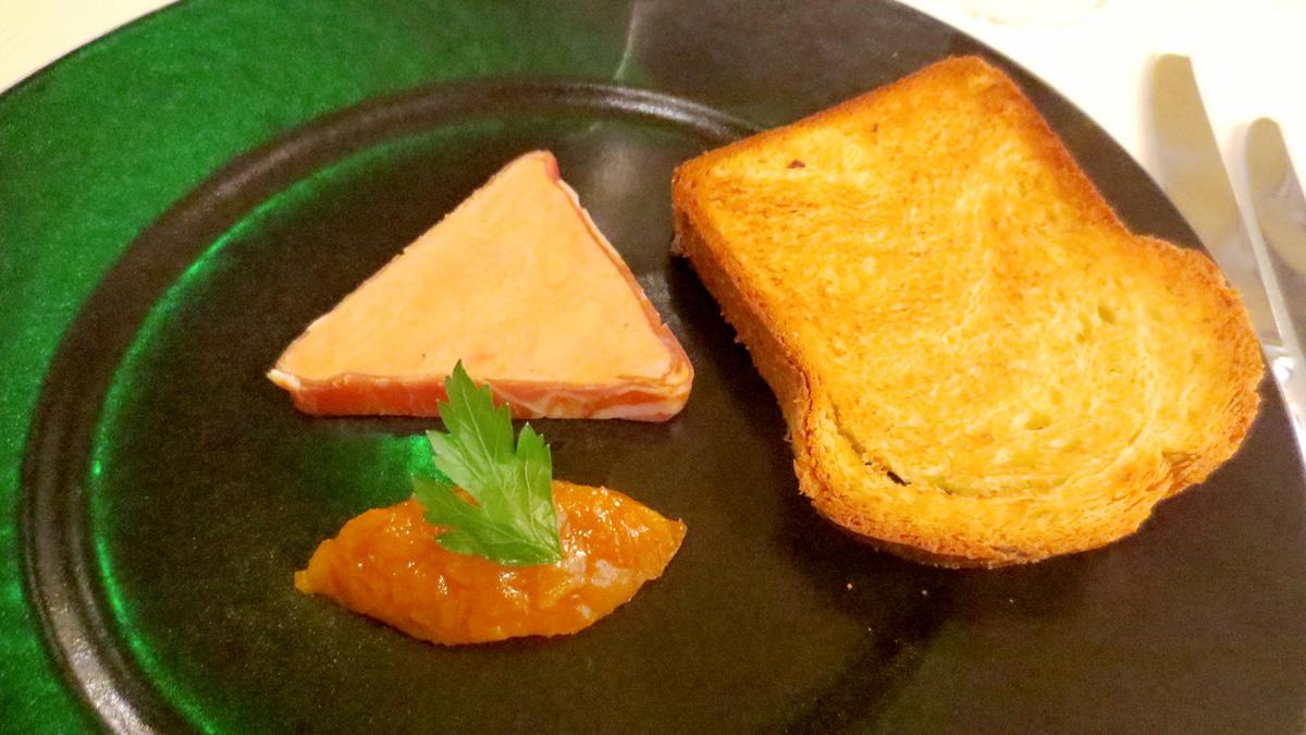 Fegato grasso con salsa di albicocche allo zafferano