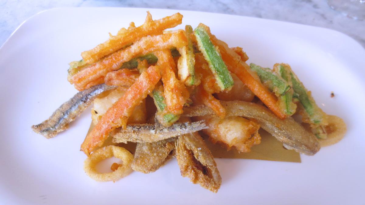 Il fritto di paranza e verdure