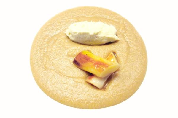 Zuppa di ceci, baccalà e porri