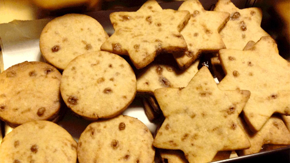 Biscotti di frolla allo zucchero integrale