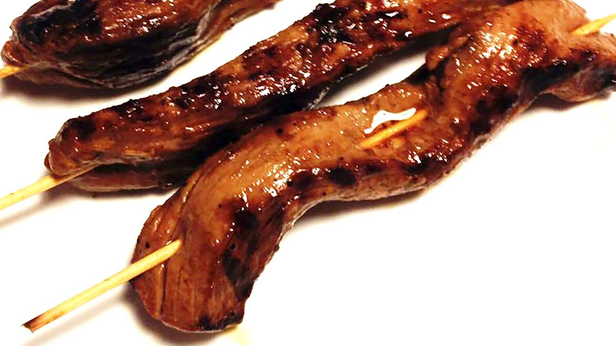 Spiedini di maiale alla soia
