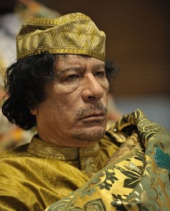 Libya's ruler Muammar Gaddafi